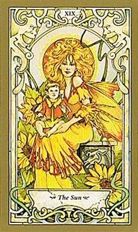 tarrot card the sun
