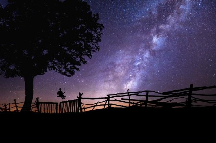the night sky pixabay
