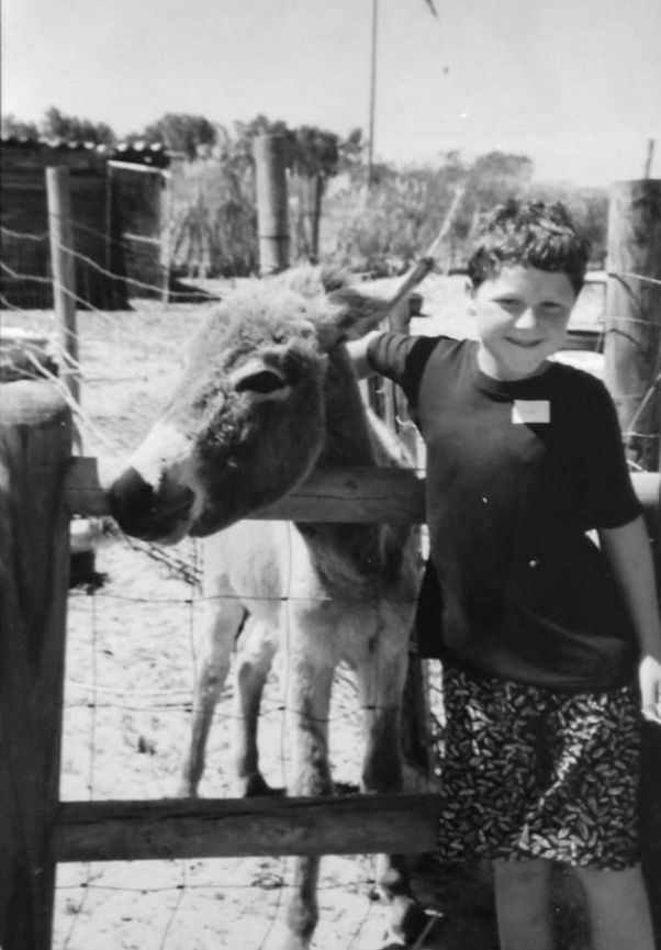 stevie and a donkey